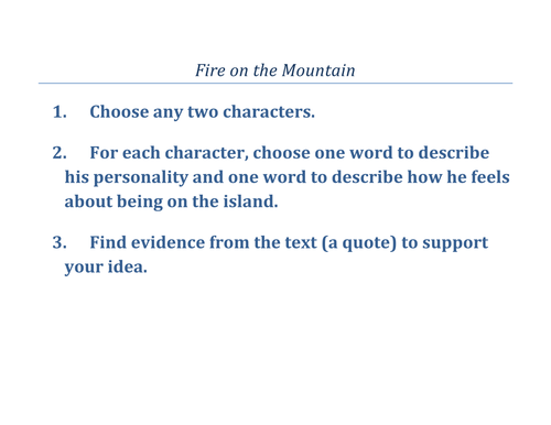 Lord of the Flies Unit Resources