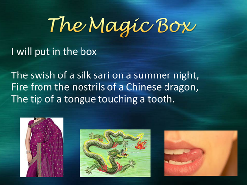 the magic box ppt by karenlb teaching resources tes. Black Bedroom Furniture Sets. Home Design Ideas
