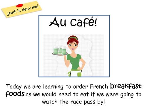 Au Café lesson and activities