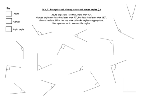 Recognising and Identifying Angles by IndiaRose26 Teaching – Measuring Angles Worksheet