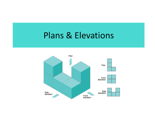 Plan Elevation Questions : Solids plans and elevation by uk teaching resources tes