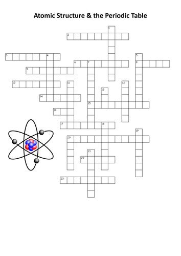 Atomic Structure And The Periodic Table Crossword By Neilz12