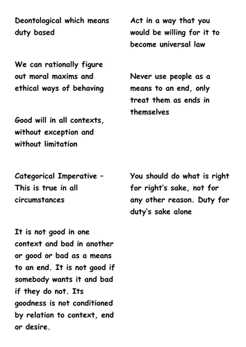 Kants Categorical Imperative Unpacked By Rcooper87 Teaching