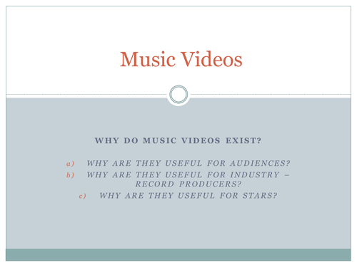 Music videos and audience