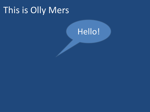 Polymers with Olly Mers