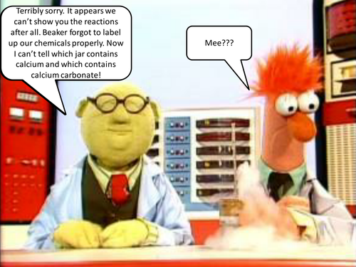 Beaker and Bunsen's Mystery substances (Gas Tests)