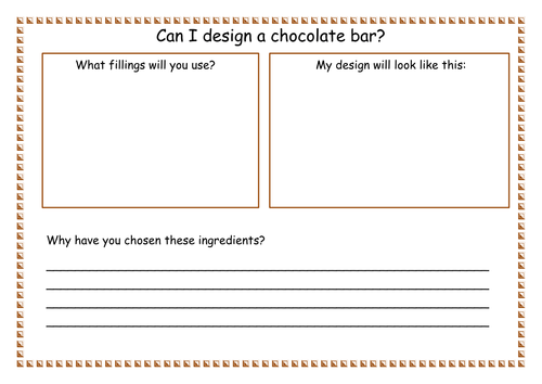 Ks1 Design Topic Can I Design A Chocolate Bar By