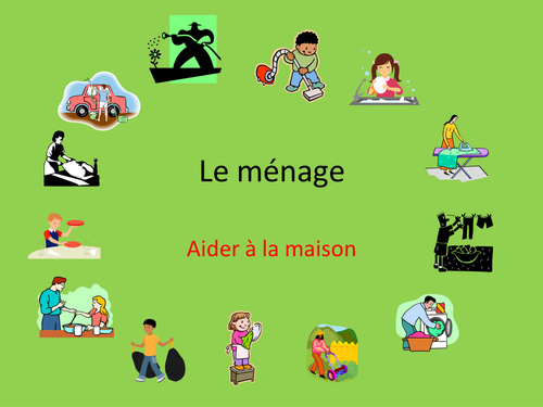 GCSE French: helping at home, housework vocabulary