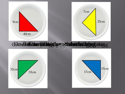 KS3 Math Pythagorean Triples Cookie Monster