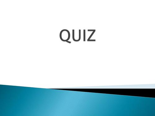 Intoduction activity on Health - Quiz
