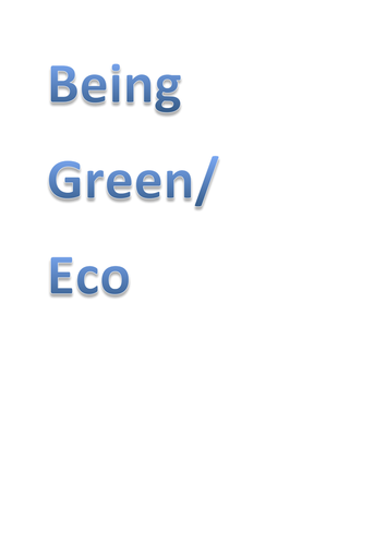 lesson plan keen to be green\\eco