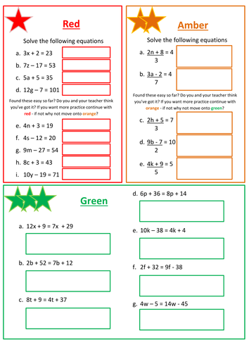 Solving Linear Equations Worksheet By Floppityboppit Teaching