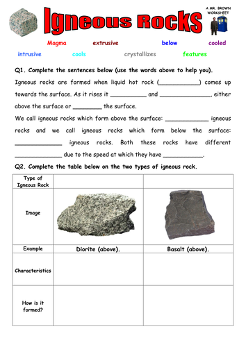 igneous and sedimentary rock worksheet by uk teaching resources tes. Black Bedroom Furniture Sets. Home Design Ideas
