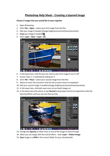 Photoshop how to create an image with layers