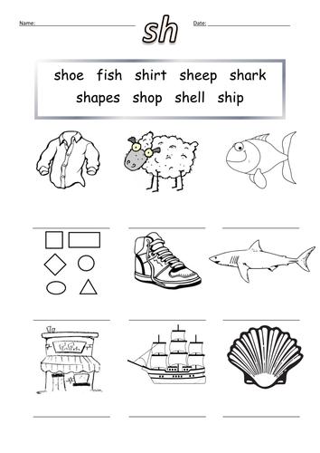First sh Words Worksheet sh by barang - Teaching Resources - TES