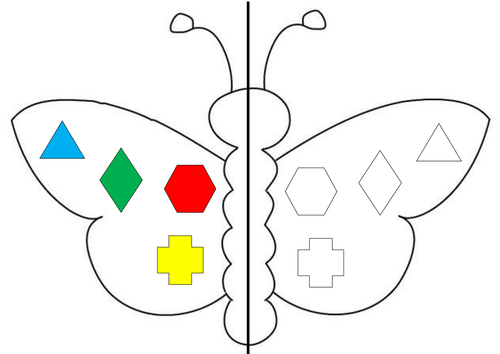Symmetrical Butterflies Activity and Plan by teach_92