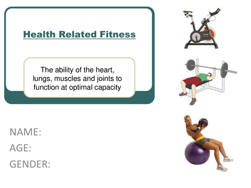 Health Related Fitness Workbook | Teaching Resources