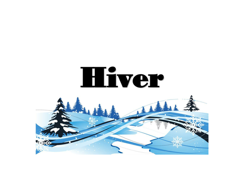 Winter vocabulary in French