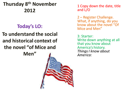 context of of mice and men essay