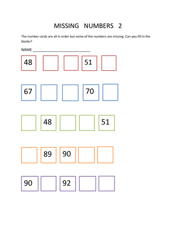 maths worksheet missing numbers y2 by kimstwins teaching resources tes. Black Bedroom Furniture Sets. Home Design Ideas