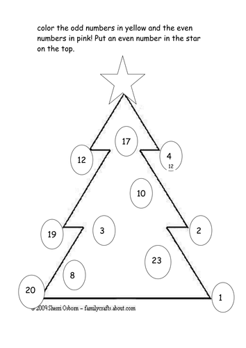 An Odd and Even Christmas Tree