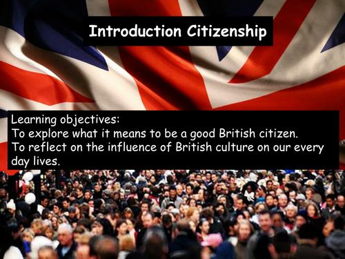 Citizenship - Introduction 1of5 KS3 2012-2013