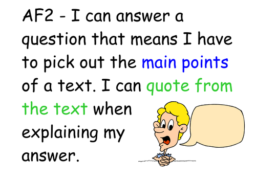 classroom posters for AF reading targets