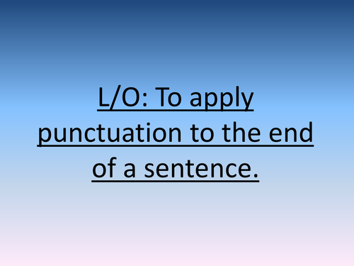Applying punctuation to sentence endings