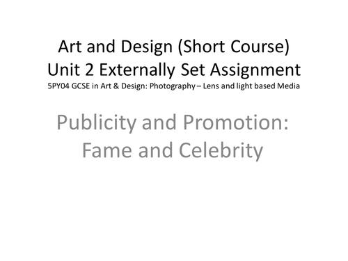 PoS for GCSE Short Course Art & Design Photography