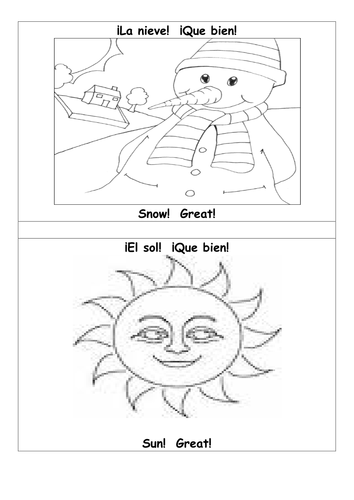 Coloring pictures of weather