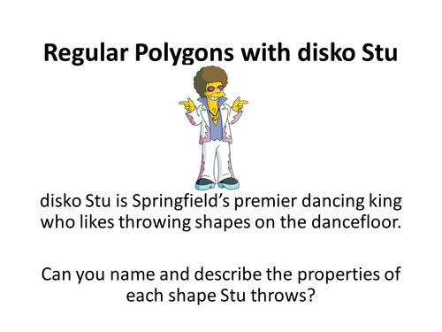 Disco Stu Regular Polygon Properties by alutwyche Teaching – Properties of Polygons Worksheet