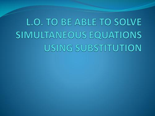 Simultaneous Equations - Magic Trick