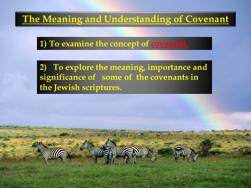 Judaism - The concept of covenant