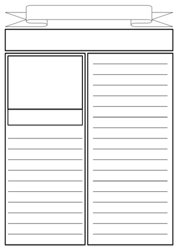 Blank newspaper template kids free for Free printable newspaper template for students