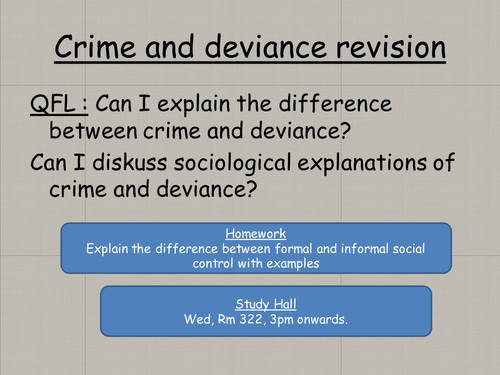 """difference between crime and deviance essay Again, since deviance is a matter of degree, the line between """"societal"""" and """"situ-ational"""" deviance is blurry and in flux social control will be applied to normative violations as."""