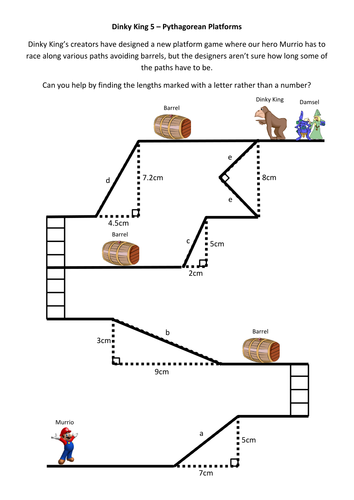 dinky king 5 pythagorean platforms by alutwyche teaching resources tes. Black Bedroom Furniture Sets. Home Design Ideas