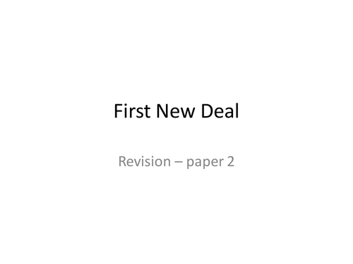 new deal or not new deal essay