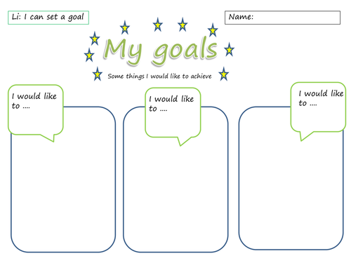 Worksheets My Goals Worksheet my goals worksheet by sarahunderwood teaching resources tes