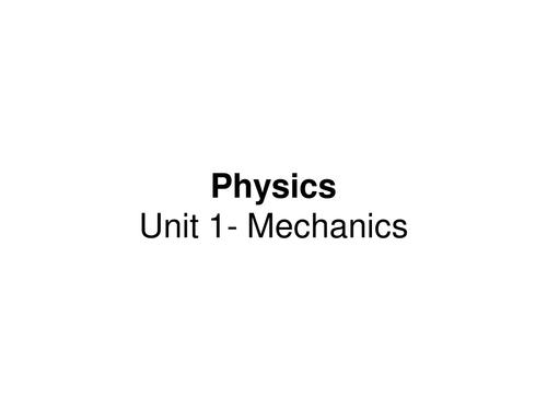AS Physics- OCR Unit 1 (Mechanics) Powerpoint