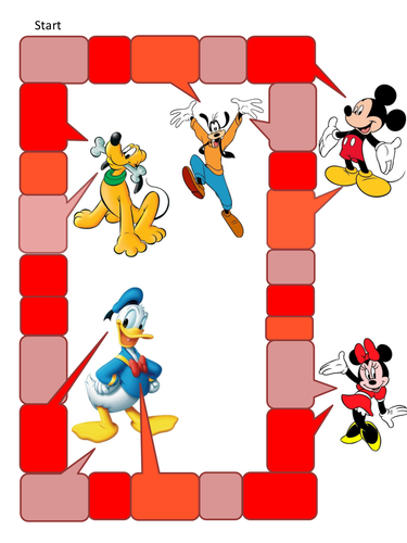 Editable Cartoon board games, shrek, disney...