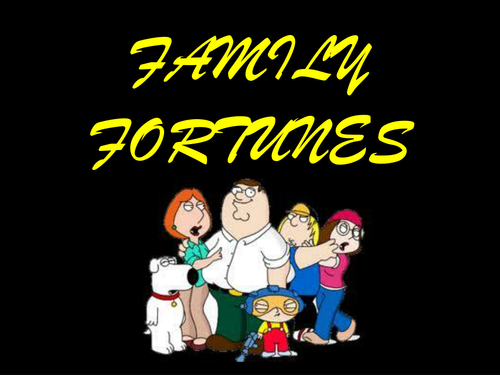 Family Fortunes Powerpoint Template