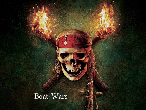 Boat Wars - Pirates of the Carribean theme!