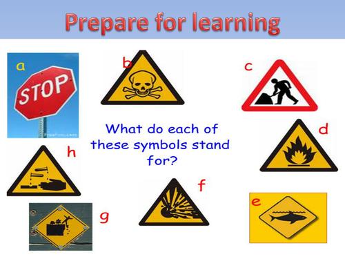 Hazard Symbol Revision By Allwyde Teaching Resources Tes