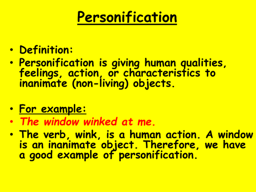 Good Example Of Personification Samples Of Personification Always