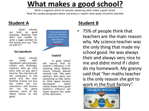 Writing to Explain;Sample Par.for Peer Assessment