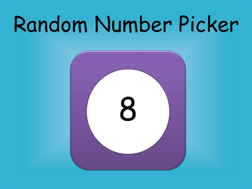 Random Number Pickers (up to 100)