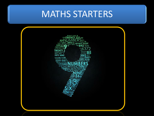 A series of Math questions for starters....